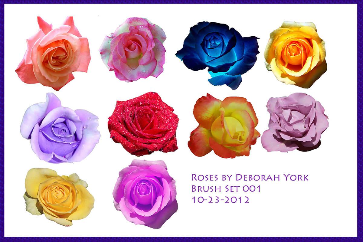 Кисти с реалистичными розами для Фотошопа
