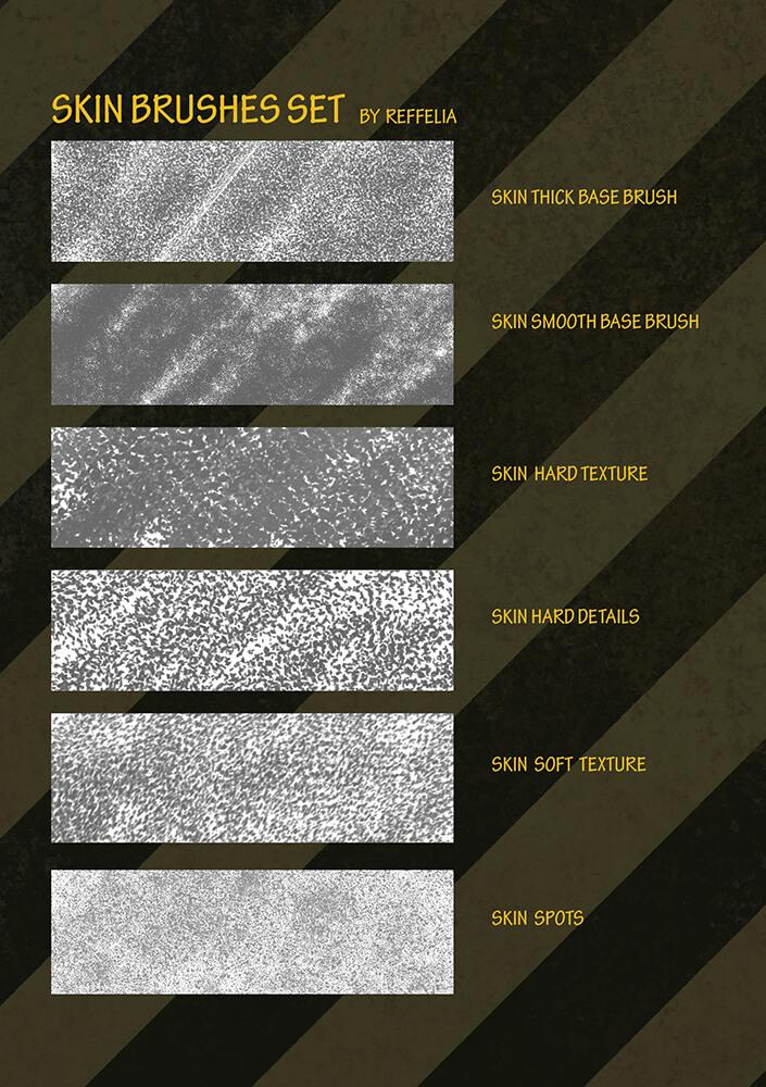 Кисти с кожаной текстурой для Фотошопа