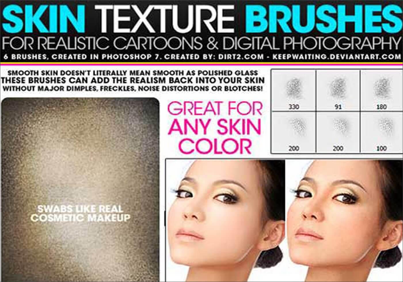 Кисти для создания текстуры кожи в Фотошопе
