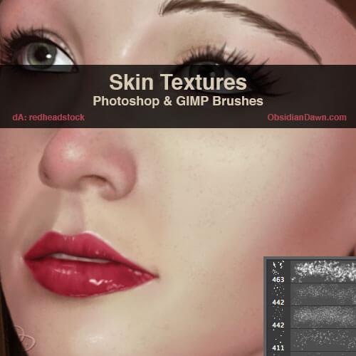 Кисти для рисования текстуры кожи в Фотошопе