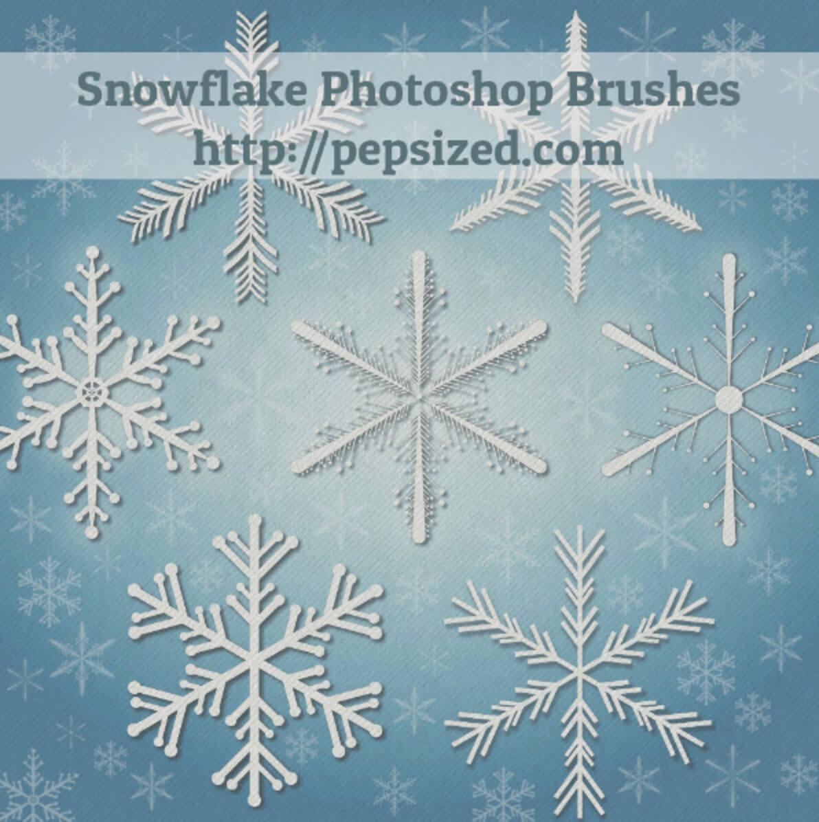 Кисти для рисования снежинок в Фотошопе