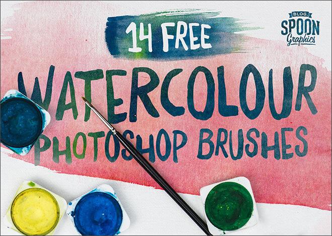 Кисти для имитации акварельных красок в Фотошопе