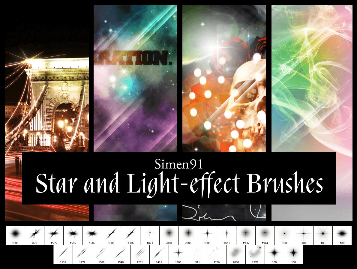 Кисти со звездами и световыми эффектами для Фотошопа