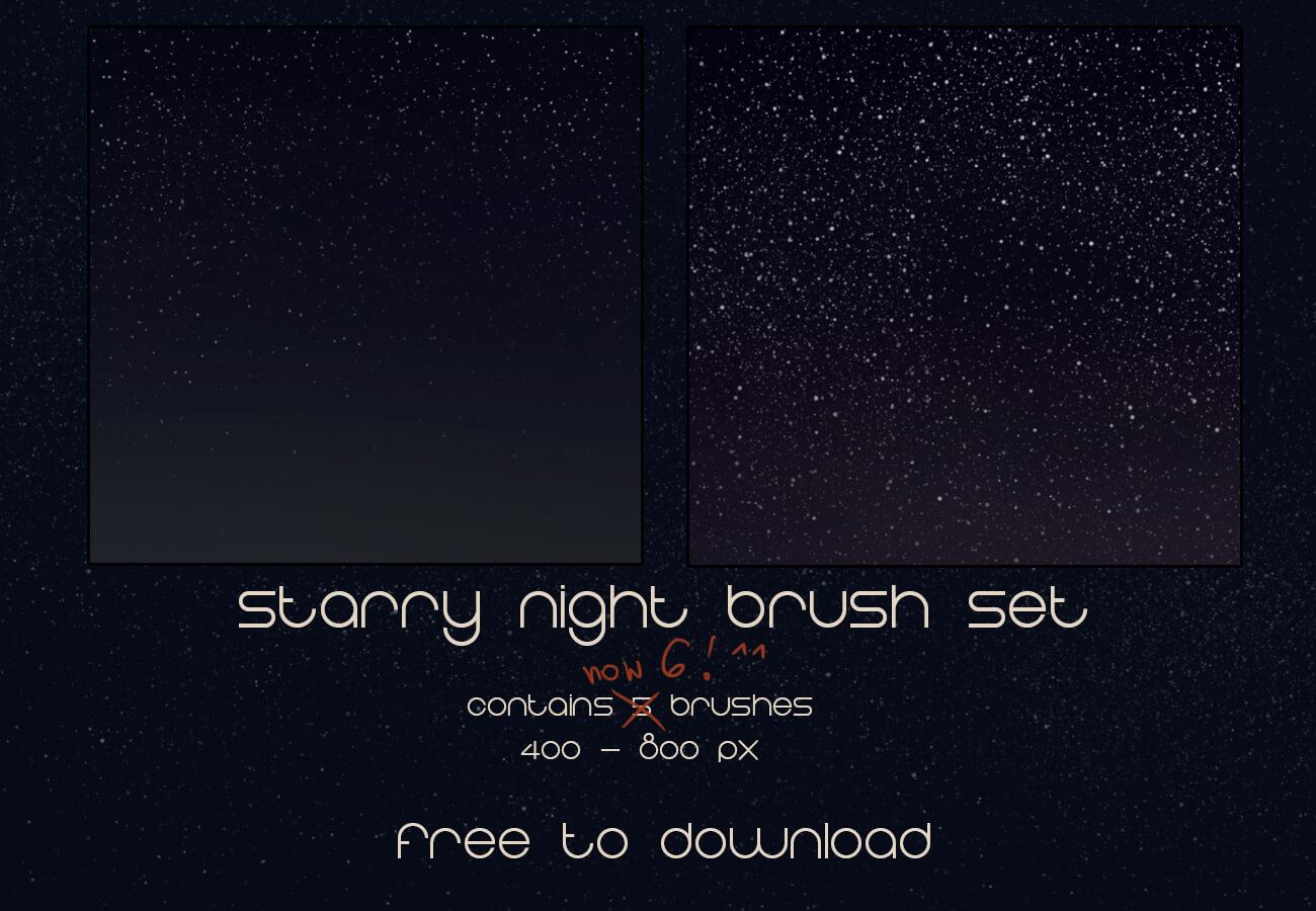 Кисти для рисования ночного звездного неба в Фотошопе