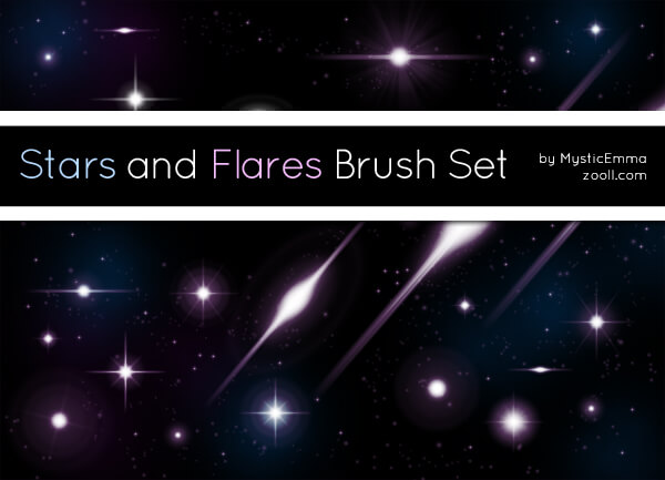 Кисти со звездами и бликами для Фотошопа