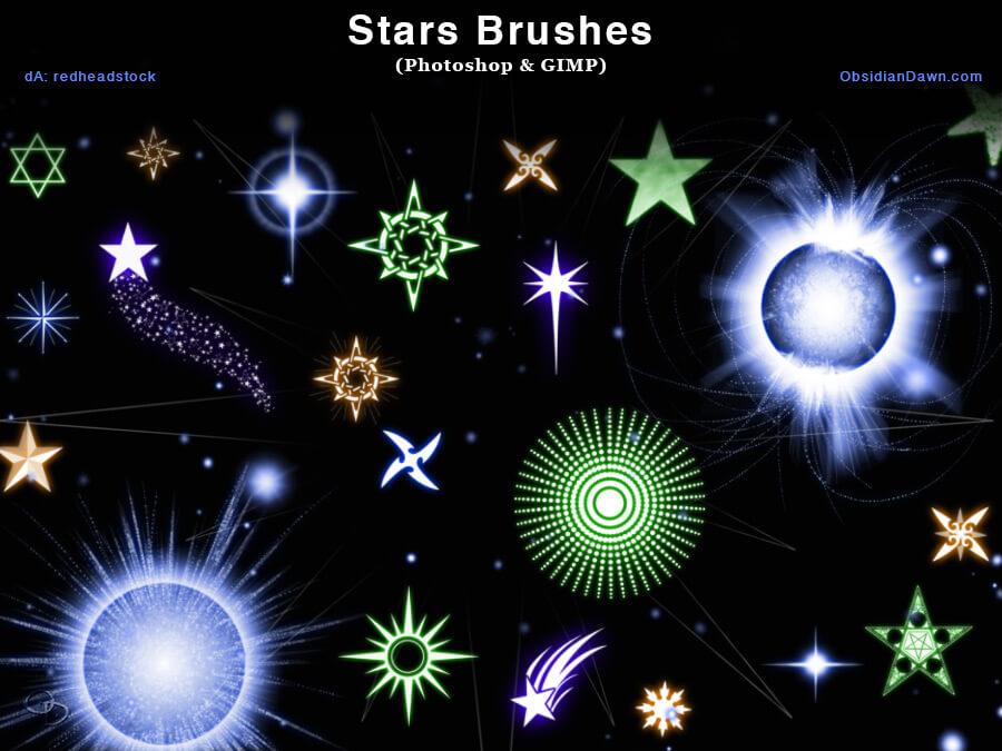 Кисти со звездами и звездочками для Фотошопа