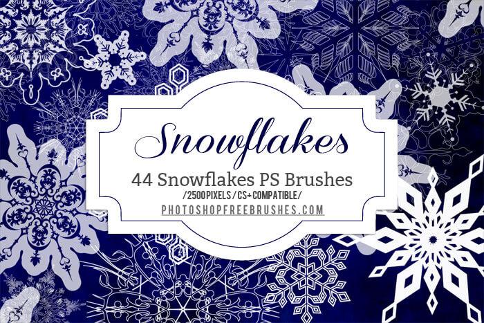 Кисти для рисования декоративных снежинок в Фотошопе