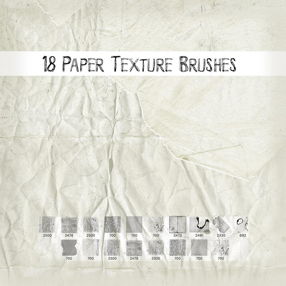 Кисти с текстурами мятой бумаги и горелых краев для Фотошопа