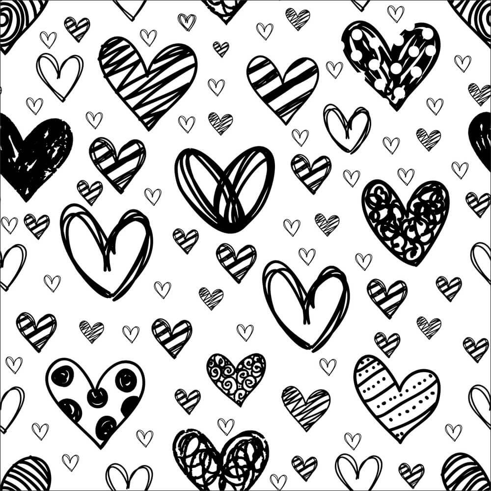 Кисти с рисованными сердечками для Фотошопа
