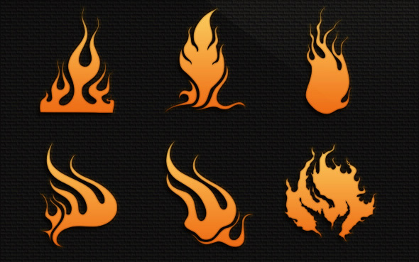 Кисти с абстрактным пламенем для Фотошопа