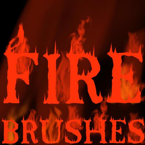 Кисти для рисования огня в Фотошопе