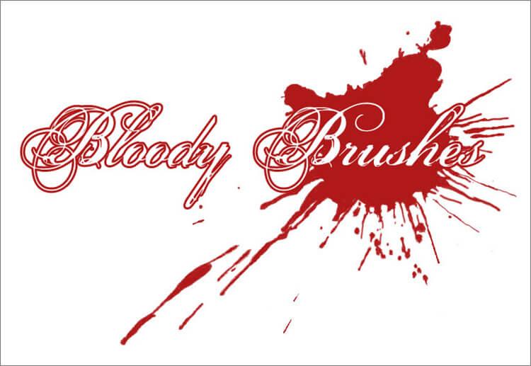Кисти для рисования крови в Фотошопе