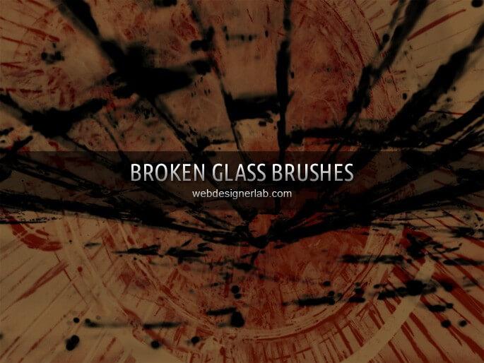 Кисти для имитации разбитого стекла в Фотошопе