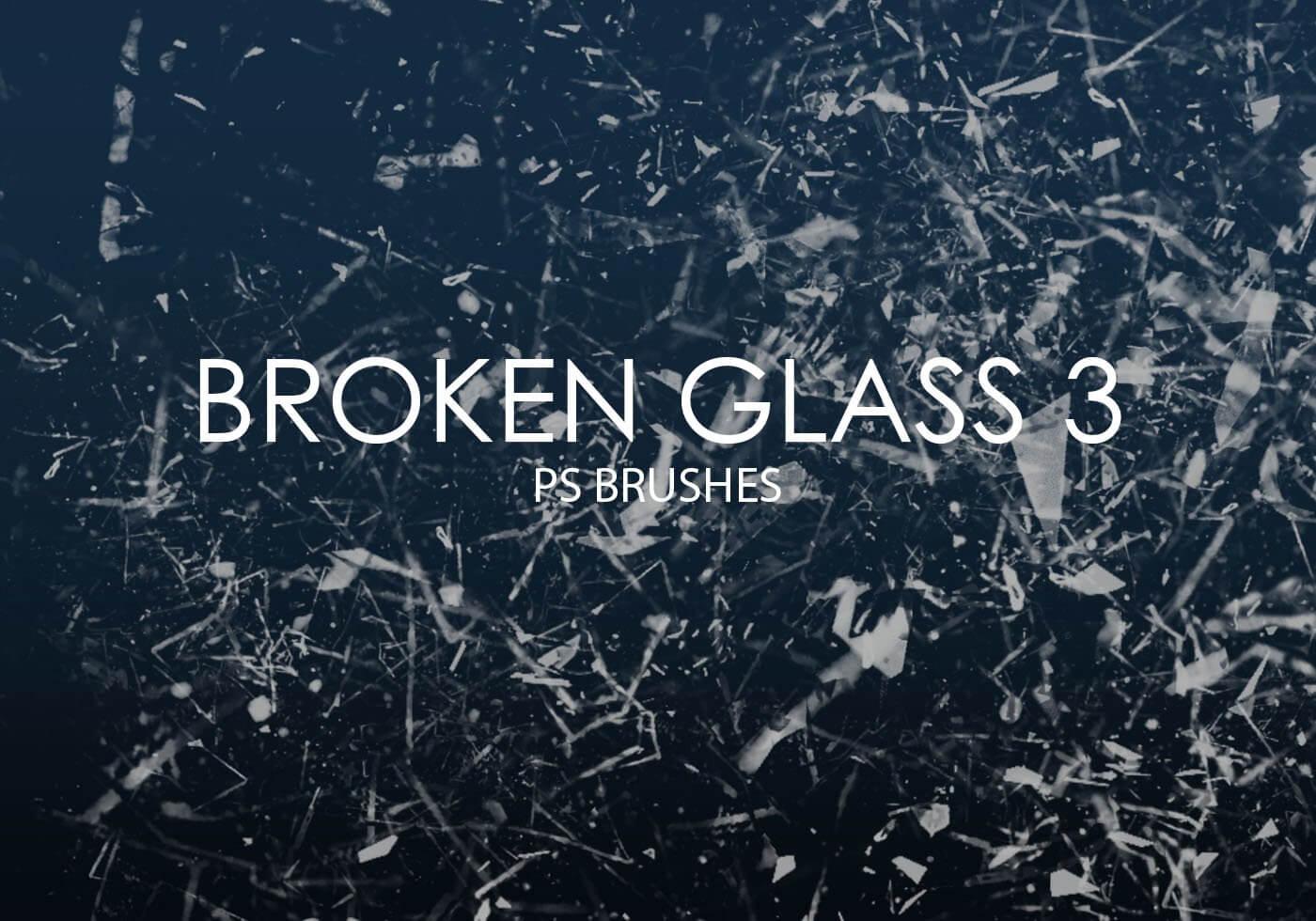 Кисти с осколками разбитого стекла для Фотошопа