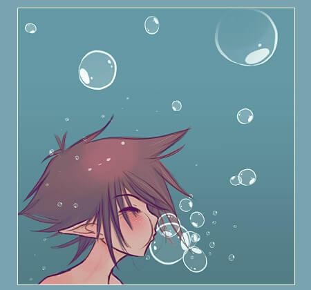 Кисть с подводным пузырем для Фотошопа