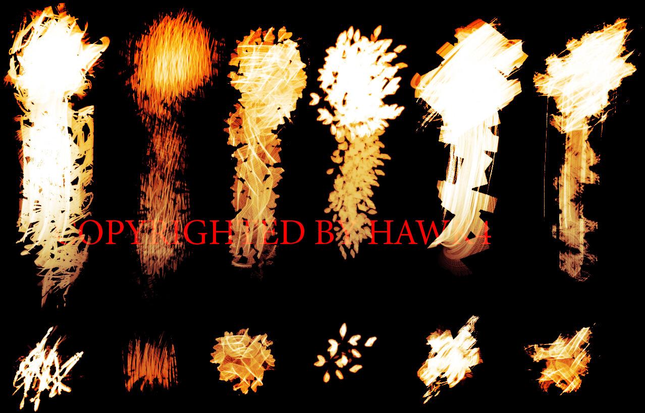 Огненные кисти для рисования в Фотошопе