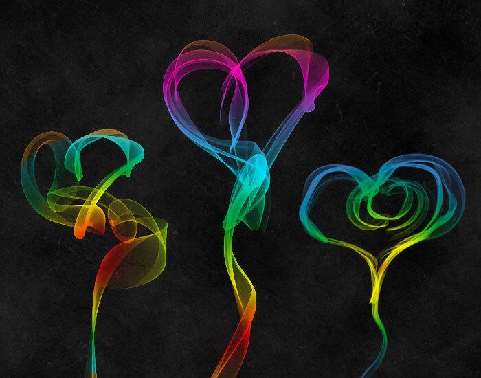 Кисти с гелевыми сердцами для Фотошопа