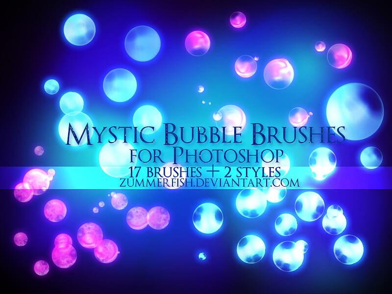 Кисти со светящимися мистическими пузырями для Фотошопа