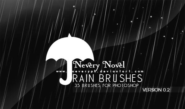 Кисти для рисования дождя в Фотошопе