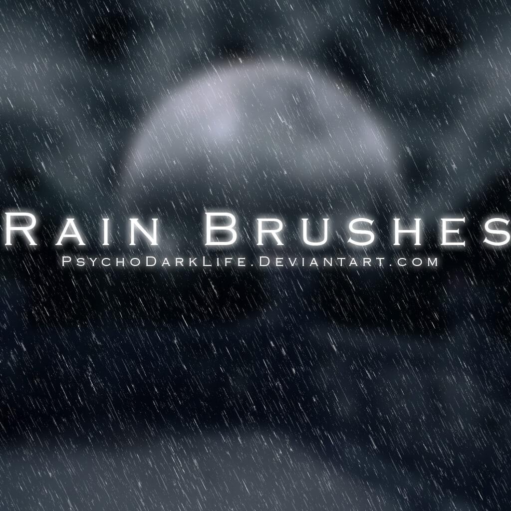 Кисти для имитации дождя в Фотошопе