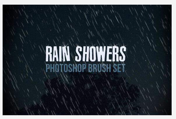 Кисти для создания дождя в Фотошопе