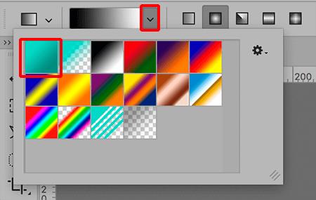 Выбор цветовой схемы градиента в Фотошопе
