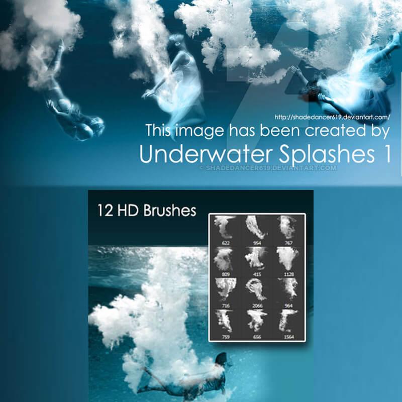 Кисти с подводными пузырями и брызгами для Фотошопа