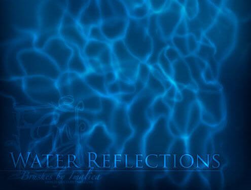 Кисти с отражениями воды для Фотошопа