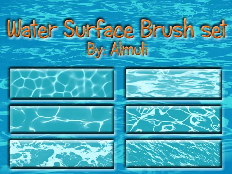 Кисти для имитации поверхности воды в Фотошопе