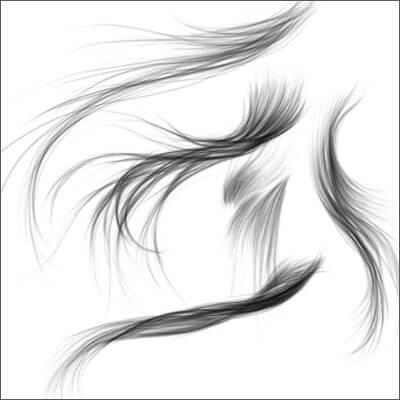 Кисти с реалистичными волосами для Фотошопа