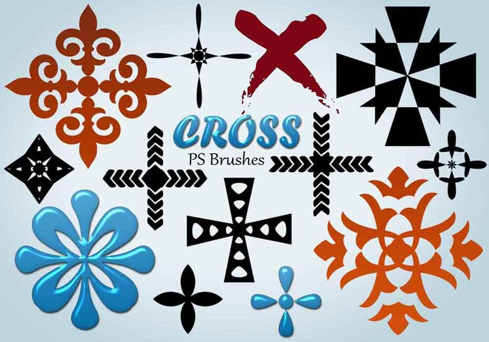 Кисти для рисования крестиков в Фотошопе