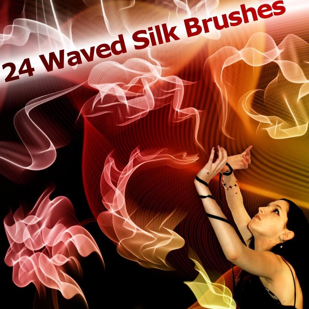 Кисти для рисования абстрактных волн в Фотошопе