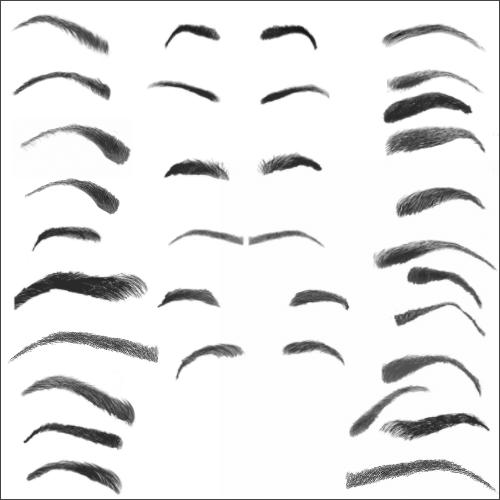 Кисти для рисования бровей в Фотошопе