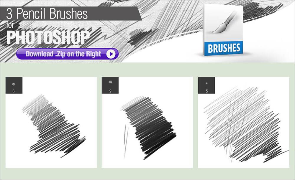 Кисти для рисования карандашом в Фотошопе