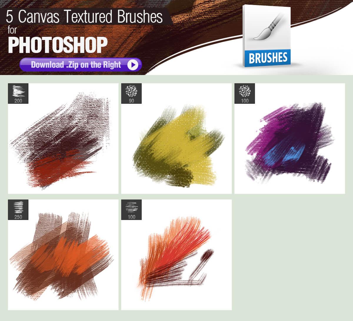 Текстурные кисти для имитации холста в Фотошопе