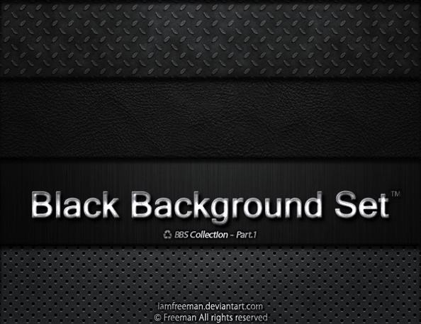 Набор черных фонов с различными текстурами для Фотошопа