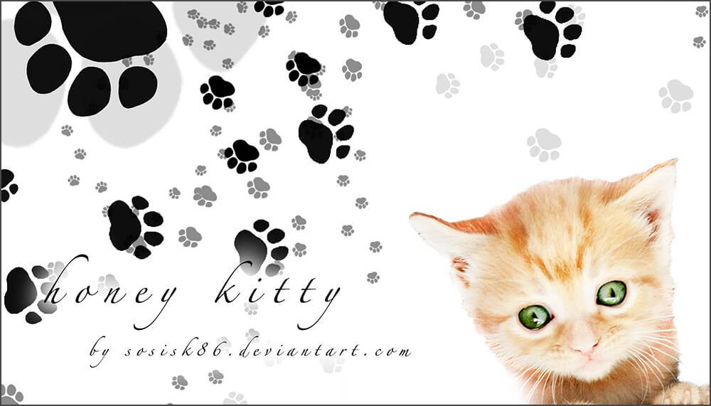 Кисти со следами от кошачьих лапок для Фотошопа