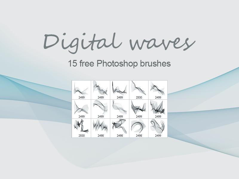 Кисти с абстрактными волнами для Фотошопа