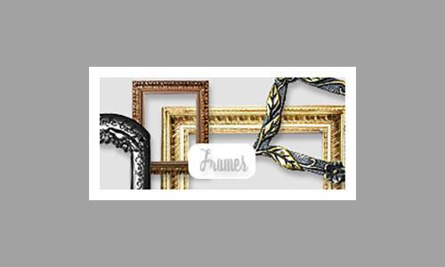 Рамки на прозрачном фоне для Фотошопа