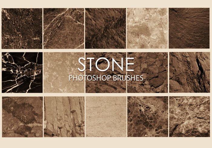 Кисти с текстурами различных каменных поверхностей для Фотошопа