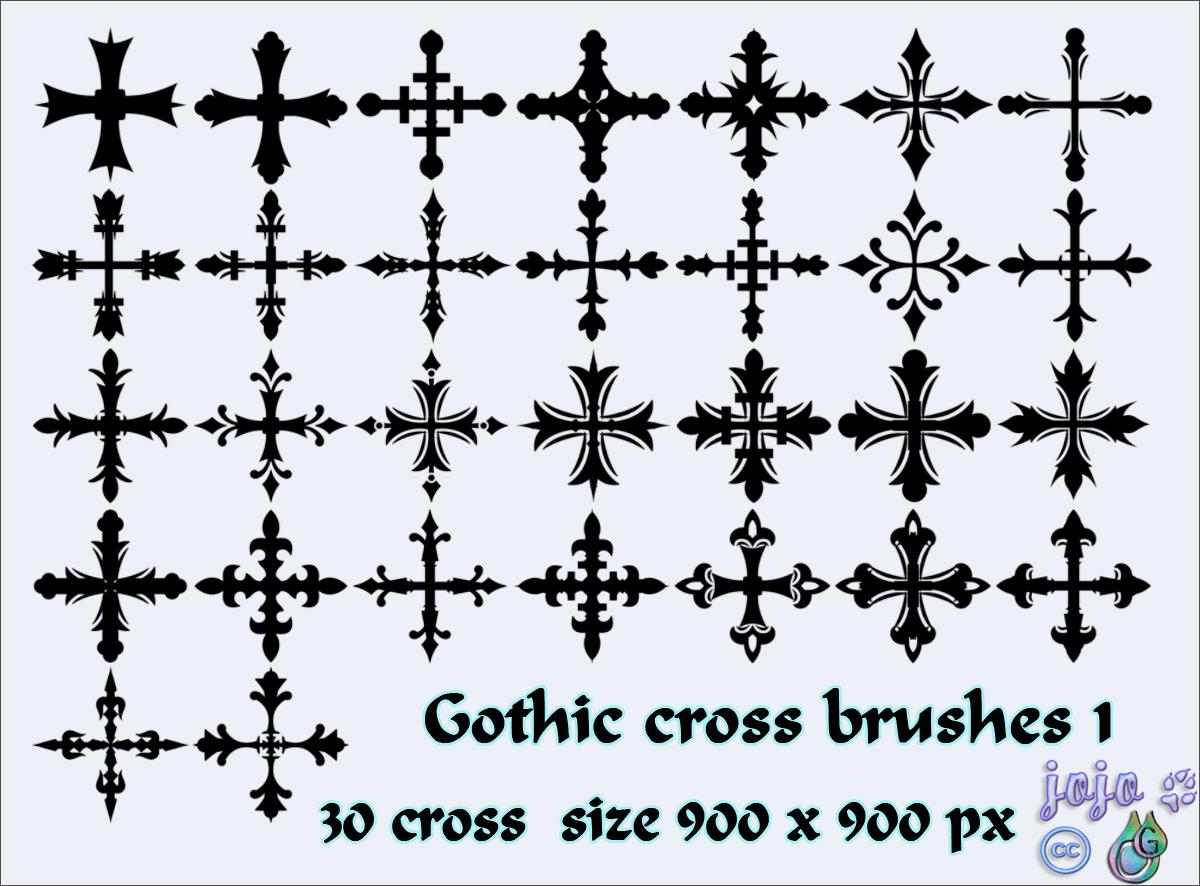Кисти с готическими крестами для Фотошопа