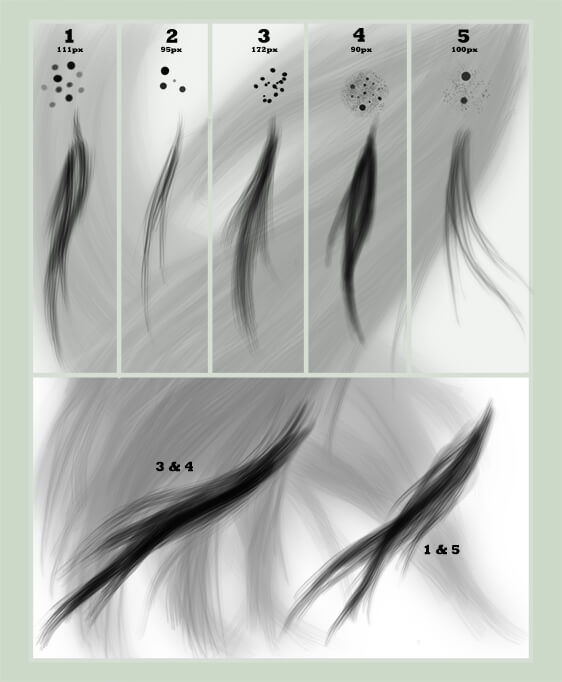 Кисти с волосами для Фотошопа