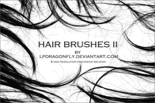 Высококачественные кисти с волосами для Фотошопа