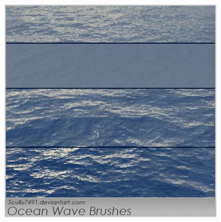 Кисти с океаническими волнами для Фотошопа