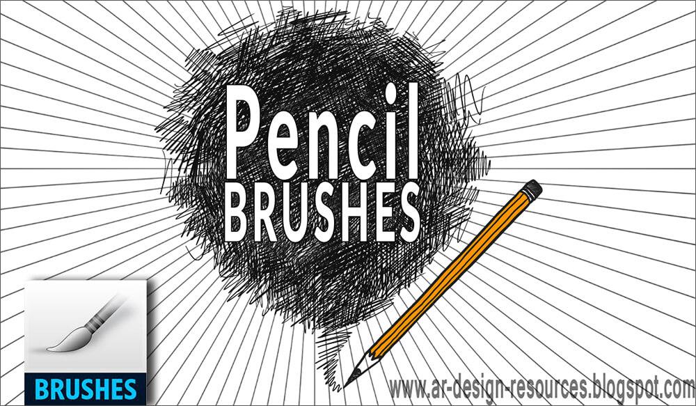 Кисти для имитации карандаша в Фотошопе