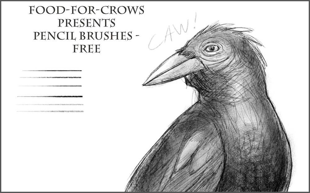 Кисти для создания рисунков карандашом в Фотошопе