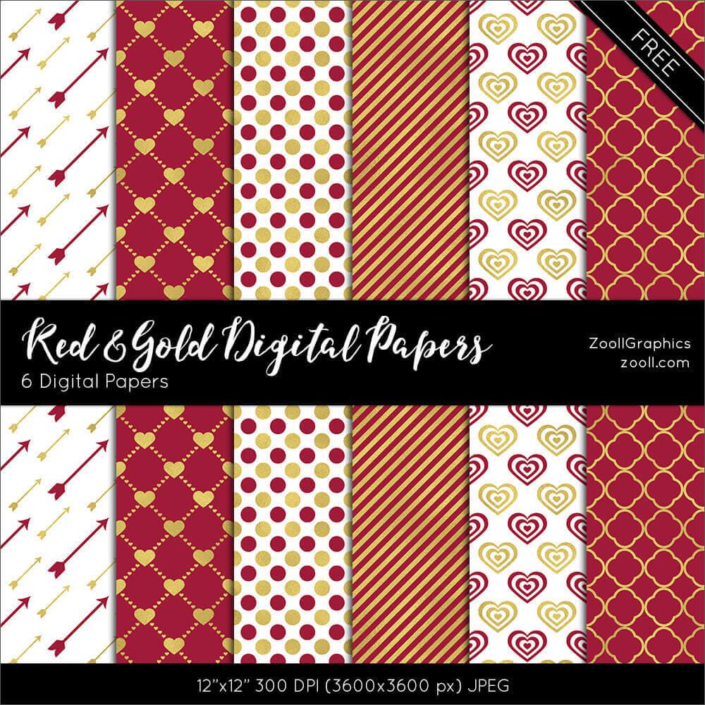 Фоны с текстурами в красных и золотых тонах для Фотошопа