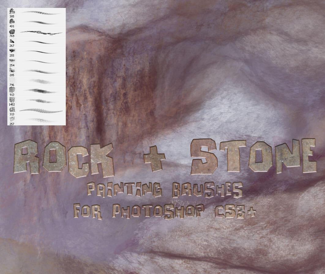 Кисти для рисования каменной поверхности в Фотошопе