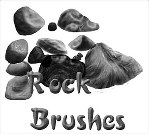 Кисти для рисования камней в Фотошопе