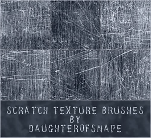 Кисти с текстурами царапин для Фотошопа